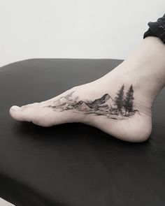40 Fabulous Mountain Tattoo DesignsYou can find Mountain tattoos and more on our Fabulous Mountain Tattoo Designs Rock Tattoo, Get A Tattoo, Body Art Tattoos, New Tattoos, Sleeve Tattoos, Tattoos For Guys, Ankle Tattoo, Female Wrist Tattoos, Rib Cage Tattoos