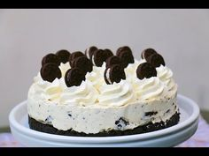 Recette facile du Cheesecake Oreos sans cuisson - YouTube