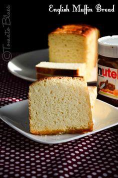 Tomato Blues: English Muffin Toasting Bread Recipe| No Knead Bread Recipes