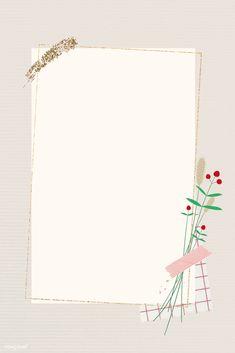 Flower Background Wallpaper, Framed Wallpaper, Flower Backgrounds, Instagram Frame Template, Powerpoint Background Design, Photo Collage Template, Creative Instagram Stories, Vintage Frames, Note Paper