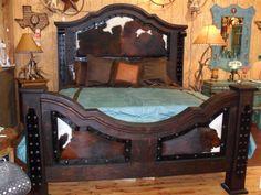 Cowhide bed