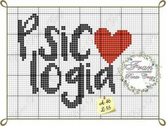 Psicologia Words In Other Languages, Greek Words, C2c, Cross Stitch, Embroidery, Pattern, Handmade, Logos, Embroidery Ideas
