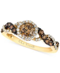 Le Vian® Chocolatier Diamond Ring (3/4 ct. t.w.) in 14k Gold | macys.com