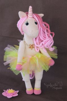 A sweet unicorn toy crochet pattern PDF by MyCroWonders on Etsy