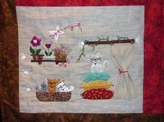 """les chats"" patchwork art quilt de l'association sport et culture du val d'argent"