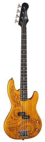 cool Luna Guitars Bass TAT 34 Tattoo basse électrique Long Scale   En savoir plus ici http://musik3l.com/luna-guitars-bass-tat-34-tattoo-basse-electrique-long-scale/