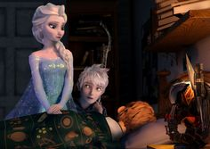 Jack And Elsa, Pictures Of Anna, Rise Of The Guardians, Frozen In Time, How To Make Comics, Jelsa, Love Memes, Cute Disney, Jack Frost