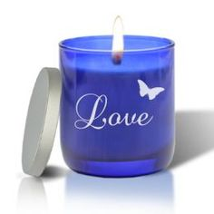Blue Collection Candle: Love with Butterfly