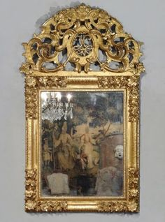 Louis XIV giltwood Mirror, early 18th century