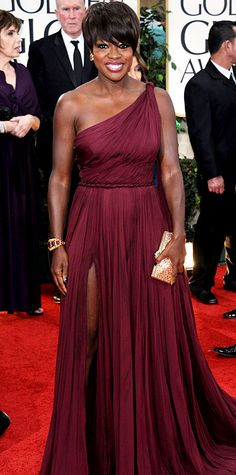 Viola Davis' Best Looks Ever - In purple silk chiffon Emilio Pucci, 2012 from #InStyle