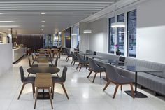 Queen Elizabeth II Center // ZEITRAUM Furniture Interior Design: SHH Architects, London; AHMM Architects, London Dealers: SCP Contracts Photography: Rob Parrish