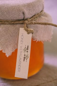 Fabulous idea for rustic wedding favors! See more here http://www.love4wed.com/lavender-rustic-wedding-inspiration/  #weddingfavors #honeyjars #lavenderweddings