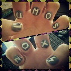 My harry potter nail art :) #nailart #harrypotter