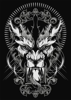 to ] Great to own a Ray-Ban sunglasses as summer gift.Lycanthrope Illustration by Shulyak Brothers , via Behance Wolf Tattoos, Lion Tattoo, Panzer Tattoo, Desenho Tattoo, Grafik Design, Future Tattoos, Dark Art, Vector Art, Concept Art