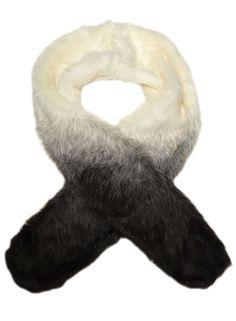 Black Ombre faux Fur Stole - Dorothy Perkins
