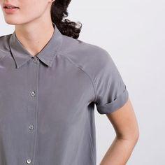 The Silk Short Sleeve - Slate – Everlane