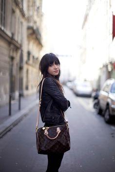 Louis Vuitton Speedy (pic from www.leblogdebetty...) #bags #fashion
