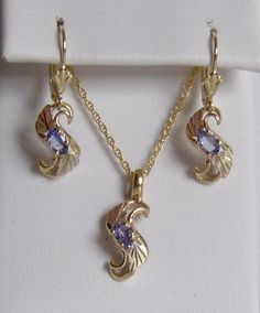 Whitaker/'s Black Hills Gold Jewelry Rose Drop Pendant  NEW  Manufacturer Direct
