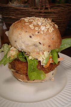 Chick pea burgers and pickles