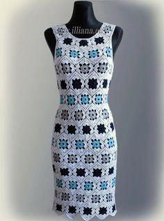 Kleid. Häkelarbeit-Muster Nr. 229 von Illiana auf Etsy