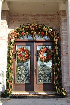 Daytime View Of The Twin Wreaths On Double Lead Gl Doors Spectacular Luxury