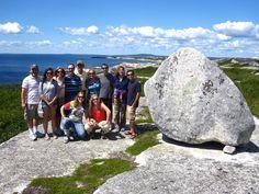Hiking the barrens, Peggy's Cove Nova Scotia. Group Shots, Adventure Tours, Fishing Villages, Nova Scotia, Hiking Trails, Old Things, Earth, Explore, Water