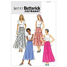 Buy Butterick Women's Skirt Sewing Pattern, 5757 Online at johnlewis.com