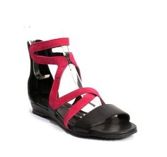 ad6b7ee55003 Deep Pink Suede   Black Leather Criss-Cross Gladiators 20% OFF with code  AUGUST20