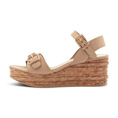 Wedge sandal Shops, Spring Summer 2016, Bohemian Style, Wedge Sandals, Taupe, Wedges, Black, Fashion, Fashion Styles