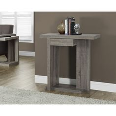 Dark Taupe Reclaimed-Look Hall Console Accent Table