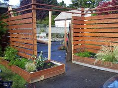 categorically modern: fence with planter boxes