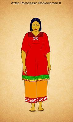 Aztec Postclassic Noblewoman II by Kamazotz on DeviantArt