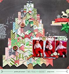 This is the most incredibly creative use of scraps I have ever seen in a layout....hands down!!