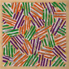 'Untitled' by Jasper Johns: Color Silk-Screen #Jasper_Johns #Graphic_Design