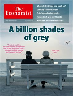 The cover of the Economist  - a billion shades of grey