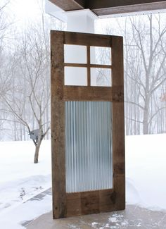 Rustic Barn Door Sliding Barn Door w/Barn Tin 9376 by Keeriah