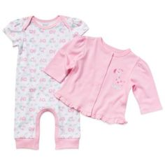 Gerber 2-Piece Organic Cotton Girl's Coverall and Cardigan Set - buybuyBaby.com $14.99