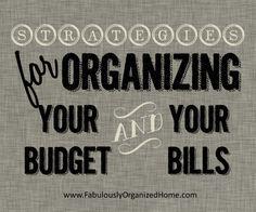 Organize your bills & budget   Fabulously Organized Home