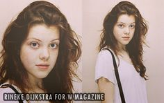 Georgie Henley's oufit at her photoshoot with Rineke Dijkstra for W magazine.