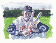 Ted Williams by Michael Gaydos for Baseball Week at Ashcan All-Stars