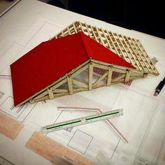 Maquete telhado - Aula Expressão gráfica