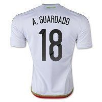 Mexico National Team 2015 A. GUARDADO #18 Away Soccer Jersey [C336]