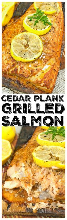 This Cedar Plank Grilled Salmon recipe is simple and adds so much flavor, you get a fantastic smokiness from the smoldering wood.