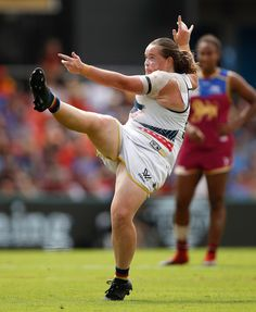 Abbey Holmes Photos Photos: AFL Women's Grand Final - Brisbane v Adelaide Brisbane, Melbourne, Stakes Day, Flemington Racecourse, Volleyball Shorts, Gold Coast, Football, Poses, Running