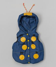 Look at this #zulilyfind! Navy Bug Hooded Vest - Infant, Toddler & Girls #zulilyfinds