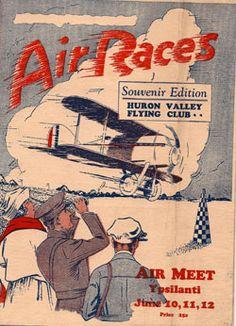 Ypsilanti Air Show poster.