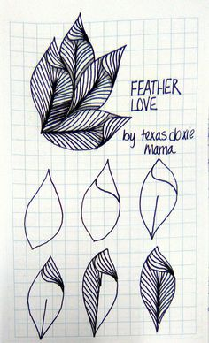 Love tangle - Feather Love tangle - Pluma Amor enredo - Feather Love tangle - Feather Love tangle - Pluma Amor enredo - sheleaf-by-yuru-chen More Anuleaf by Lila Holter LuAnn Kessi: Quilting Sketch Book. Dibujos Zentangle Art, Zentangle Drawings, Doodles Zentangles, Doodle Drawings, Doodle Art, Doodle Fonts, Doodle Ideas, Zen Doodle Patterns, Zentangle Patterns