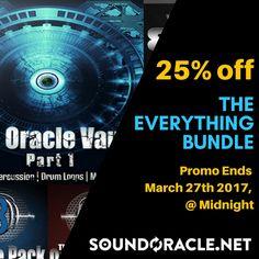 25% OFF - The #EverythingBundle (Includes #SoundLibrary: #808, #OraclePack Series, #OracleLoop  the #OracleVault):https://goo.gl/Rnvp4J