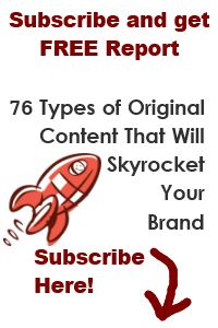 Get my free report, 76 Types of Original Content That Will Skyrocket Your Brand, at my website, www.yourbrandingpower.com. Never be at a loss for what type of original content to create again! #contentmarketing