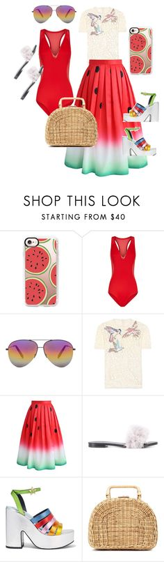 """""""Watermelon"""" by viviane-shopen ❤ liked on Polyvore featuring Casetify, Victoria Beckham, RED Valentino, Chicwish, Avec Modération, MR by Man Repeller and Kayu"""